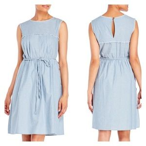 Nanette Nanette Lepore chambray peasant dress